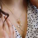 14k Gold Fill Rose Necklace