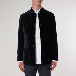 Black Velvet Nehru Jacket - coats & jackets
