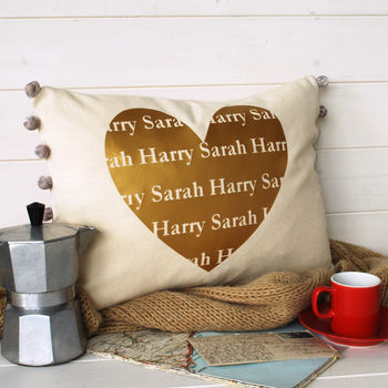 Golden Valentine Cushion