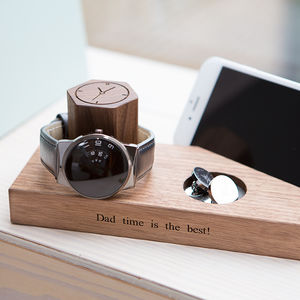 Personalised Bedside Watch And Phone Stand - gifts for him
