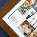 Close up caption Personalised Family Photo Collage Print