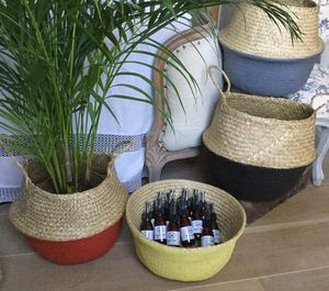 Deep Seagrass Basket |Choice Of Colours - bedroom