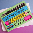 Pen And Pencil Pun Friendship Or Birthday Card