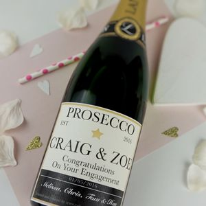 Personalised Champagne/Prosecco Label - wedding favours