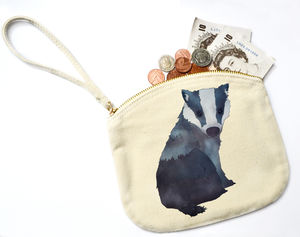 Badger Canvas Purse - purses & wallets
