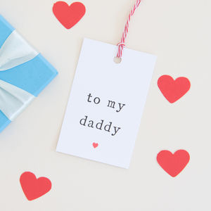 Mummy, Daddy Or Grandparents Gift Tag