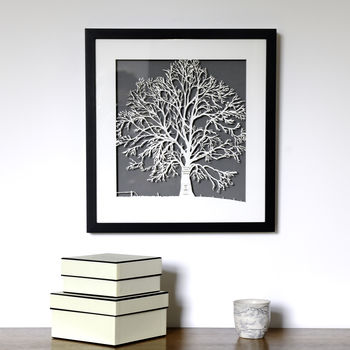 Personalised Framed Family Tree Papercut Picture