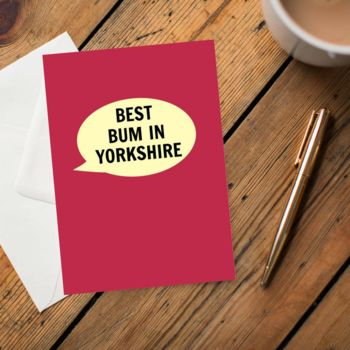 'Best Bum In Yorkshire' Card