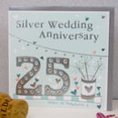 25th Wedding Anniversary Greetings Card