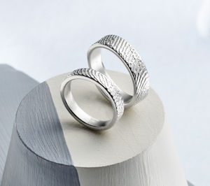 Sterling Silver Fingerprint Ring
