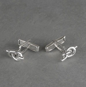 Sterling Silver Lucky Knot Cufflinks - gifts for him