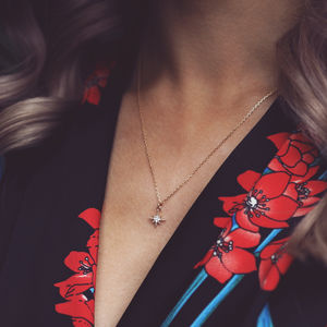 Layla. Delicate Gold North Star Pendant Necklace - necklaces & pendants