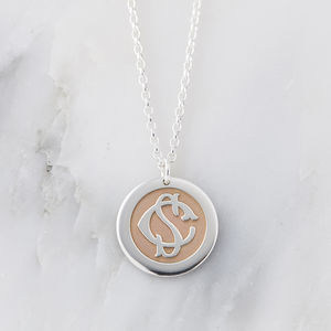 Silver And Rose Gold Entwined Monogram Necklace - necklaces & pendants