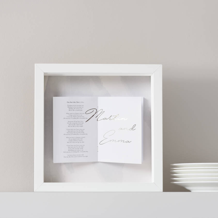 personalised favourite song lyrics watercolour frame by sarah ...