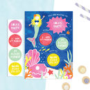 Personalised Mermaid Invitations With Sticker Activity
