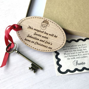 Personalised Wooden Santa's Key