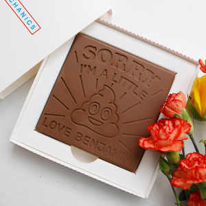 Personalised 'Sorry Im A' Chocolate Card - novelty chocolates