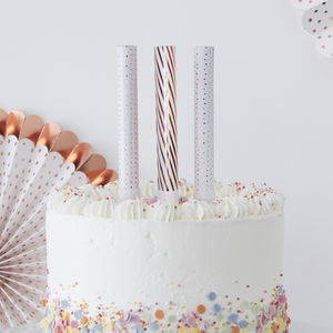 Rose Gold Foiled Cake Fountains Three Pack