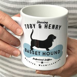 Basset Hound Dog Owner Mug And Tableware