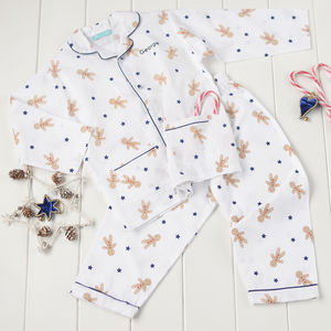 Personalised Organic Gingerbread Pyjamas - nightwear