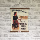 Retro Womens Land Army World War Two Print