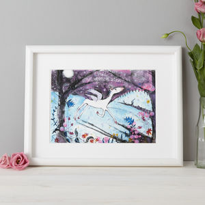 Personalised Unicorn Bedroom Gift Print