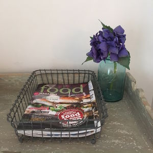 Traditional Wire Letter Tray - magazine racks