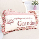 Traditional Gift For Grandma Scatter Cushion