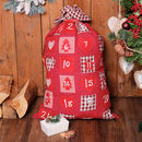 Country Style Fabric Advent Calendar Sack