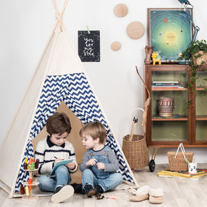 Navy Chevron Teepee - toys & games