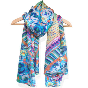Large 'Retro' Pure Silk Scarf - scarves