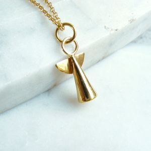 Gold angel pendant necklace by lime tree design notonthehighstreet aloadofball Choice Image