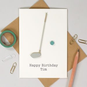 Personalised Golf Birthday Sport Card - birthday cards