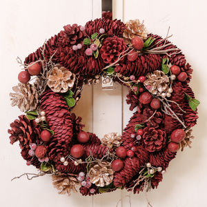 Luxury Festive Fruit And Berries Christmas Wreath - room decorations