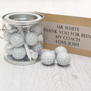 Mini Personalised Golf Bucket - gifts for teachers