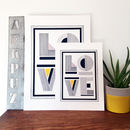 'Love' Typographic Linear Print