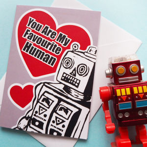 Robot Funny Anniversary Card