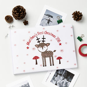 Personalised Christmas Reindeer Photo Album