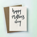 'Happy Mother's Day' Script Letterpress Card