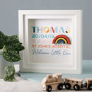 Personalised Colourful Newborn Frame