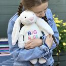 Large Bashful Bunny Soft Toy With 'Big Hugs' Jumper