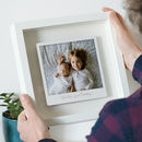 Personalised Floating Metal Retro Photo Print
