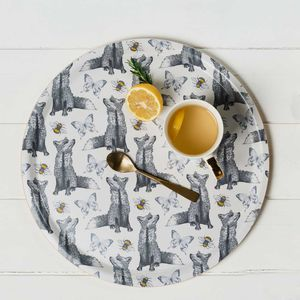 'Foxes And Bees' Birchwood Serving Tray - tableware