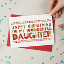 Wonderful Daughter Christmas Card