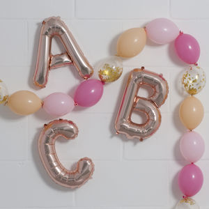 16 Inch Rose Gold Balloon Letters