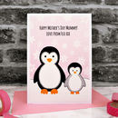 'Penguins' Personalised Mother's Day Card