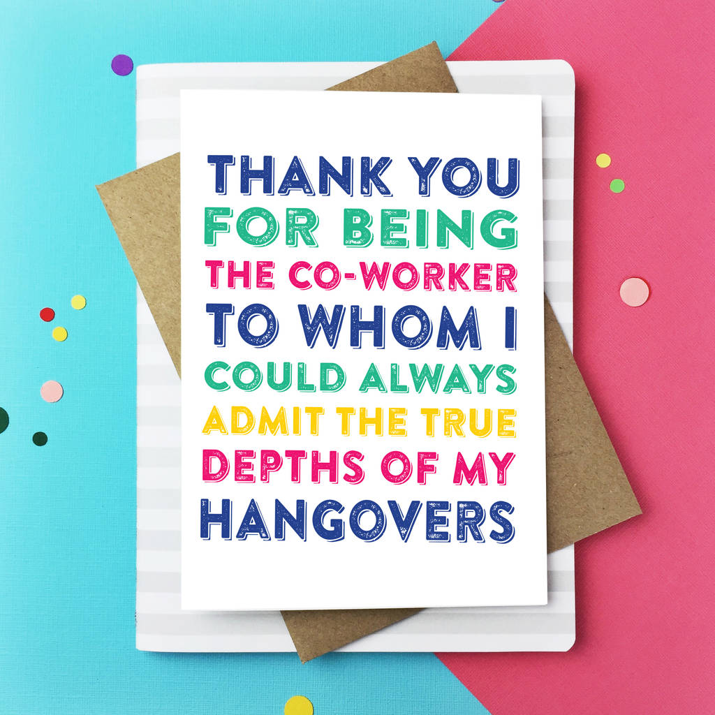 Thank You For Being My Co Worker Leaving Greetings Card