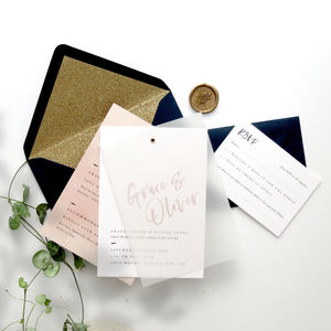 Paint Brush Wedding Invitation