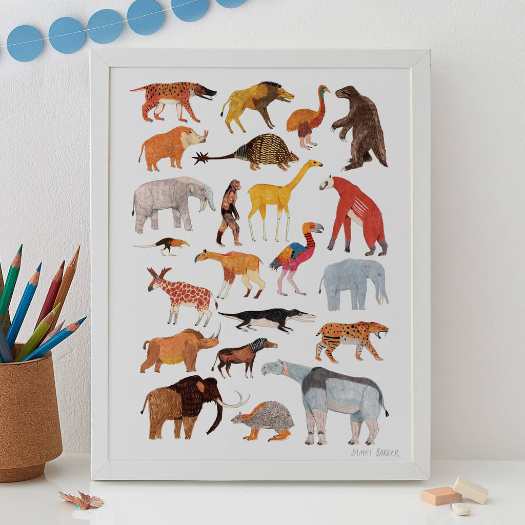 Prehistoric Animals Print