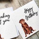 Thinking Of You Labrador Card